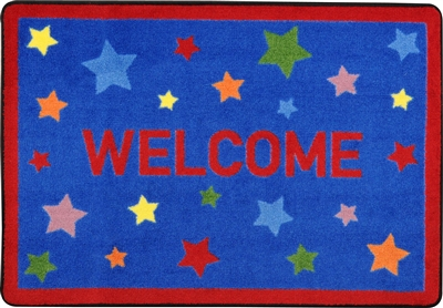 "Reading Superstars Mat - Rectangle - 2'8"" x 3'10"" - JCX1853A - RTR Kids Rugs"