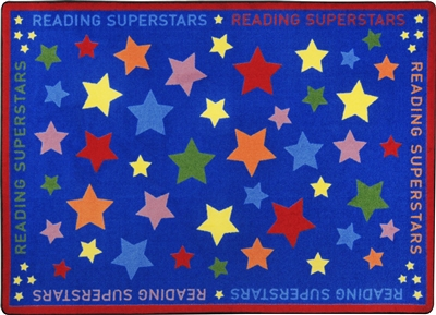 Reading Superstars Rug - JCX1853XX - RTR Kids Rugs
