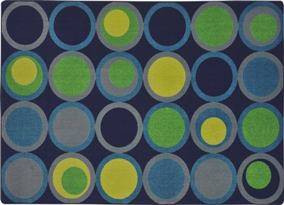 "Circle Back Rug - Navy - Rectangle - 7'8"" x 10'9"" - JC1857D02 - Joy Carpets"