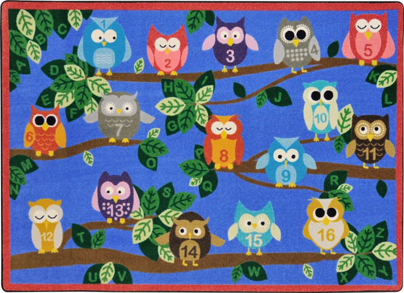 Its A Hoot Rug Rectangle 7 8 Quot X 10 9 Quot Jc1863d Joy Carpets