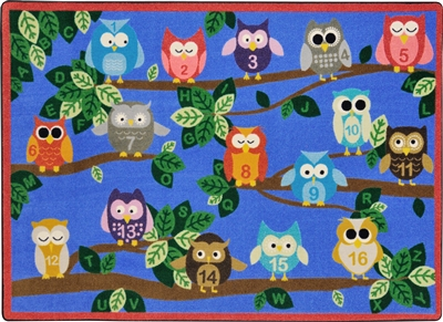 It's A Hoot Rug - JCX1863XX - RTR Kids Rugs