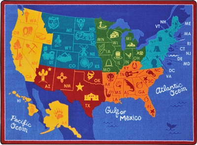 States of the Nation Rug - JCX1869XX - RTR Kids Rugs