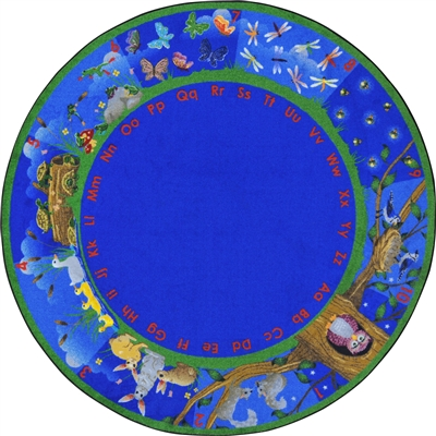 "Nature's Numbers Rug - Round - 7'7"" - JCX1878E - RTR Kids Rugs"