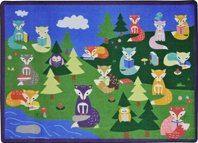 Foxy Readers Rug - JCX1883XX - RTR Kids Rugs