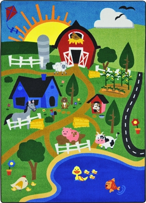 Happy Farm Rug - JCX1887XX - RTR Kids Rugs