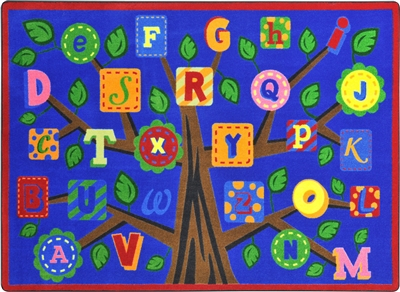 Alphabet Leaves Rug - JCX1892XX - RTR Kids Rugs