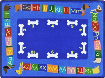 Doggone Good Alphabet Rug - JCX1920XX - RTR Kids Rugs