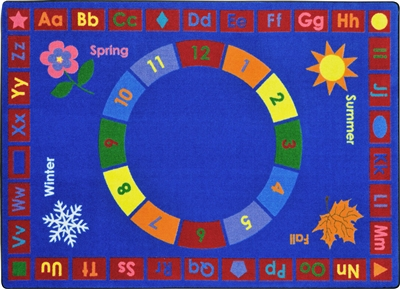 Learning Time Rug - JCX1921XX - RTR Kids Rugs