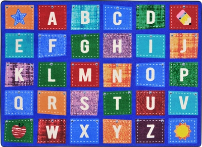 Alphabet Upcycle Rug - JCX1938XX - RTR Kids Rugs