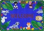 "Animals Among Us Rug - Rectangle - 2'8"" x 3'10"" - JCX1939A - RTR Kids Rugs"
