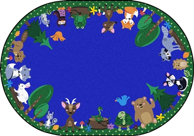Animals Among Us Rug - JCX1939XX - RTR Kids Rugs