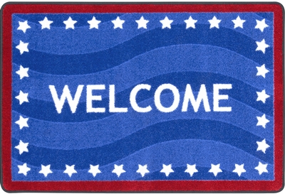 "Pride of Country Classroom Welcome Mat - Rectangle - 2'8"" x 3'10"" - JCX2003MAT - RTR Kids Rugs"