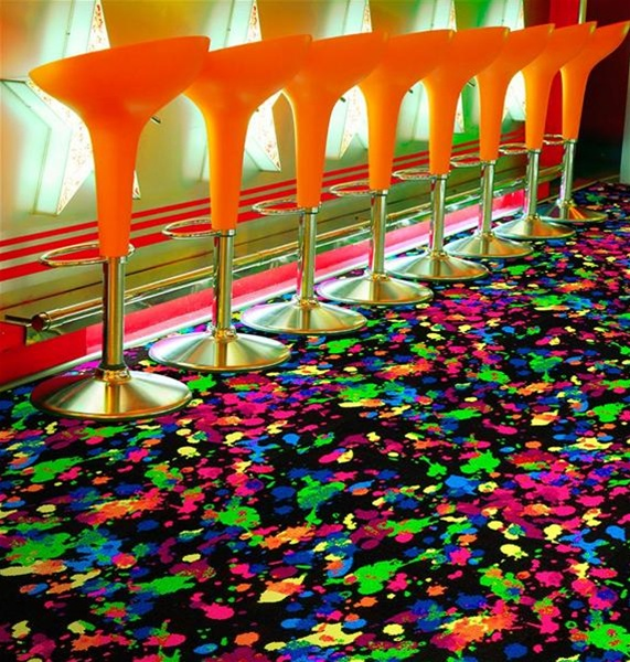 Splatter Paint Fluorescent Wall To Wall Carpet 12