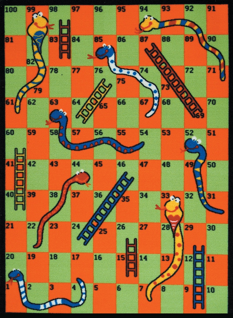 Snakes Amp Ladders Play Rug Rectangle 36 Quot X 52 Quot Lc165