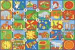 "Time To Learn Play Rug - Rectangle - 36"" x 80"" - LC176 - Learning Carpets"
