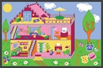 "Our Dream House Play Rug - Rectangle - 36"" x 80"" - LC191 - Learning Carpets"