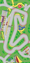 "Racetrack Play Rug - Rectangle - 36"" x 80"" - LC205 - Learning Carpets"