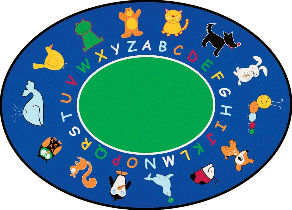 Abc Animals Rug Round 9 Lccpr401 Learning Carpets