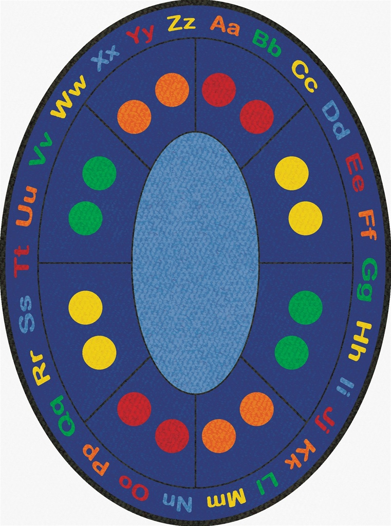 Abc Dots Rug Round 9 Lccpr488 Learning Carpets